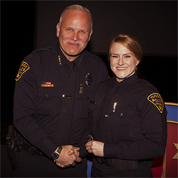 new female officer and chief
