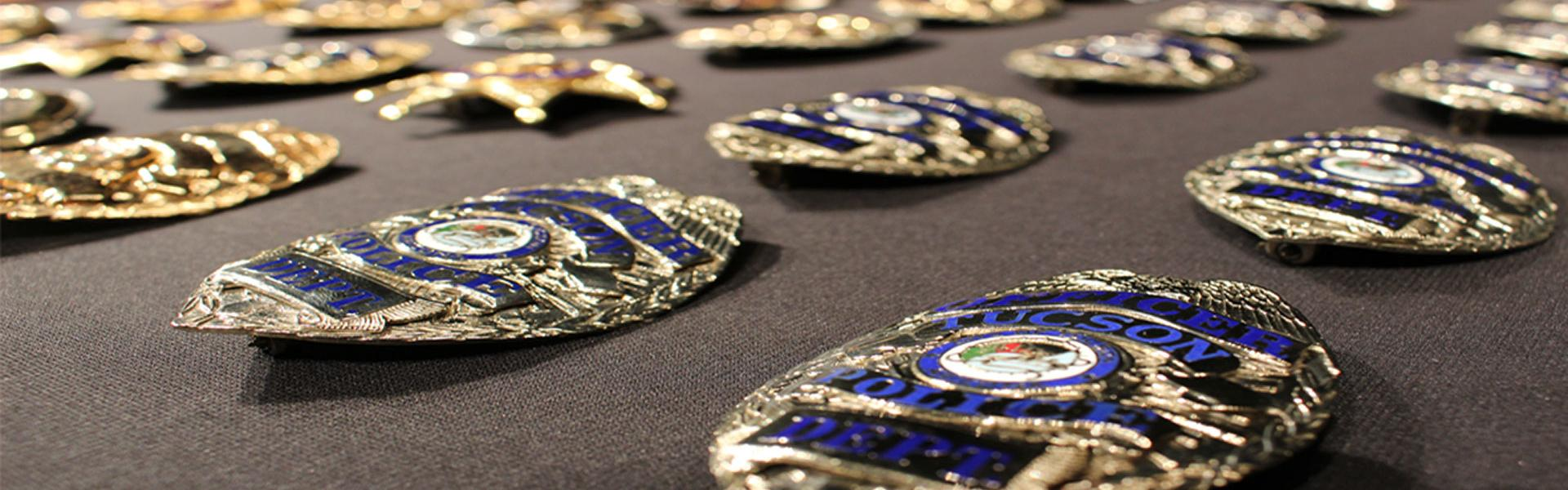 Photo of police badges